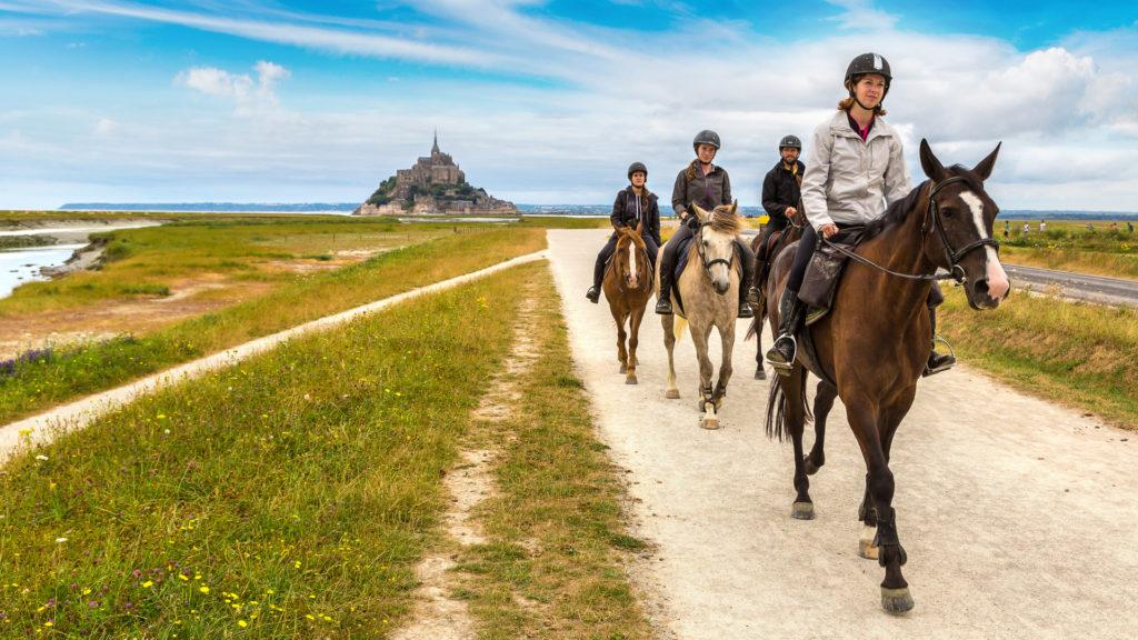 Randonnées à cheval au Mont Saint-Michel