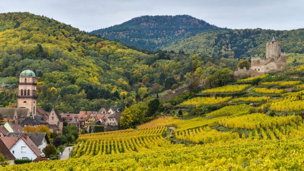 Kaysersberg sur la route des vins d'Alsac
