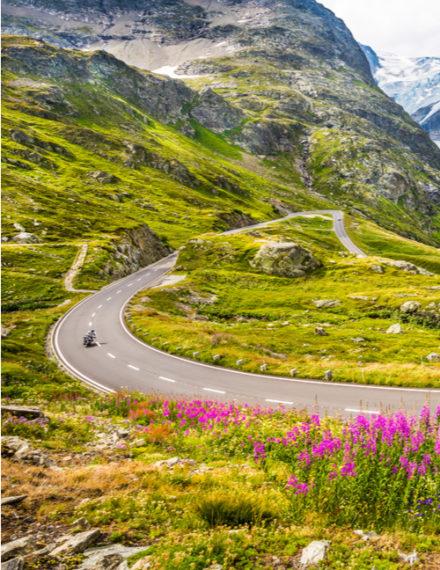 road-trip à moto sur les routes du sud