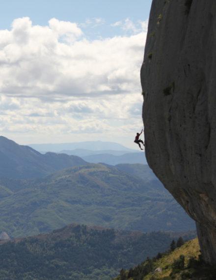 Exceptionnelle voie d'escalade à Gap