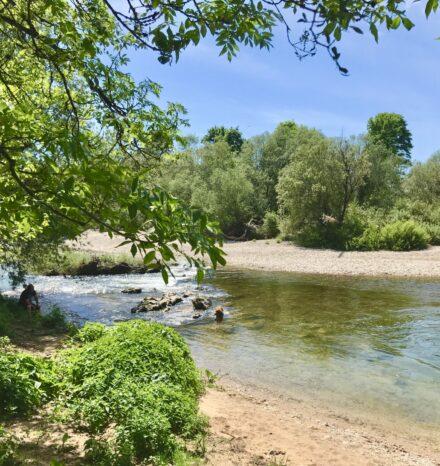 Rivière Ain camping le bivouac