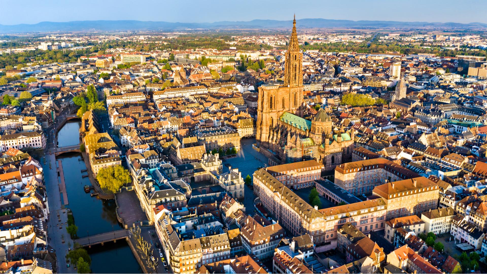Strasbourg, vue du ciel