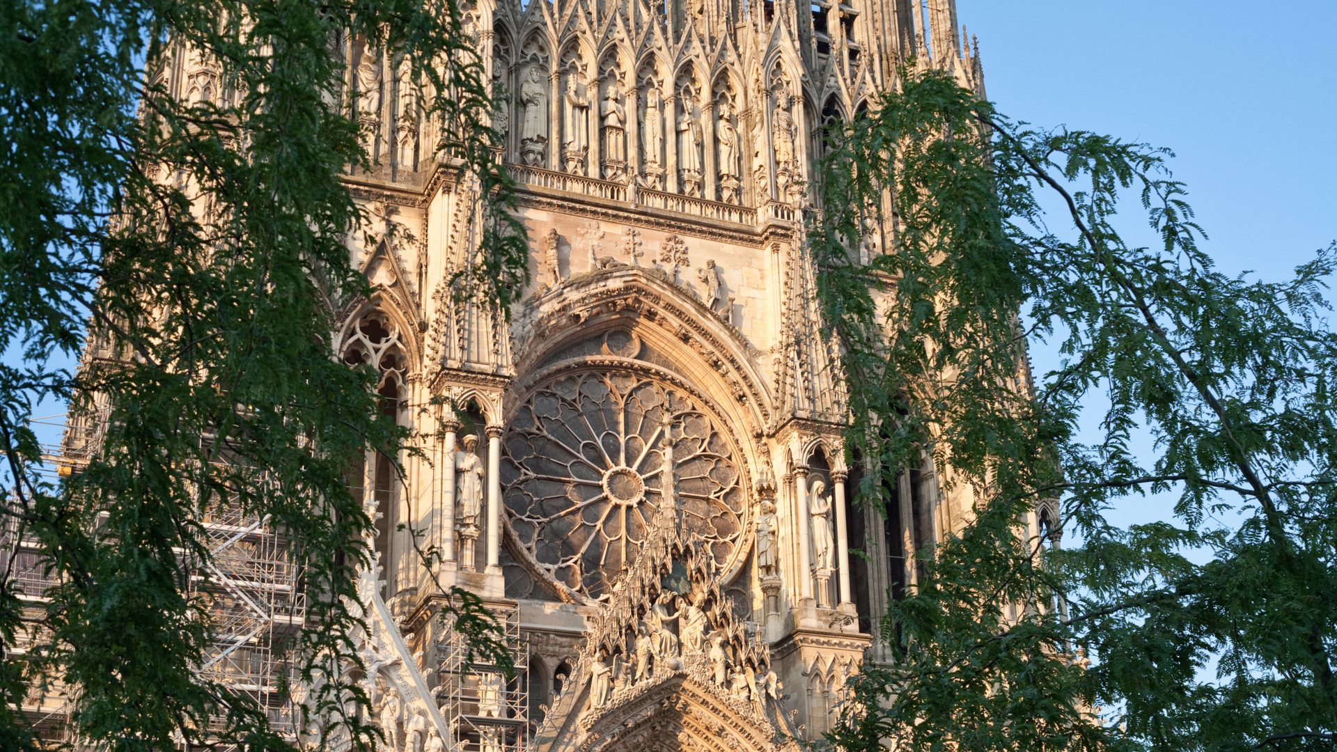 Décor sculpté de la Cathédrale de Reims