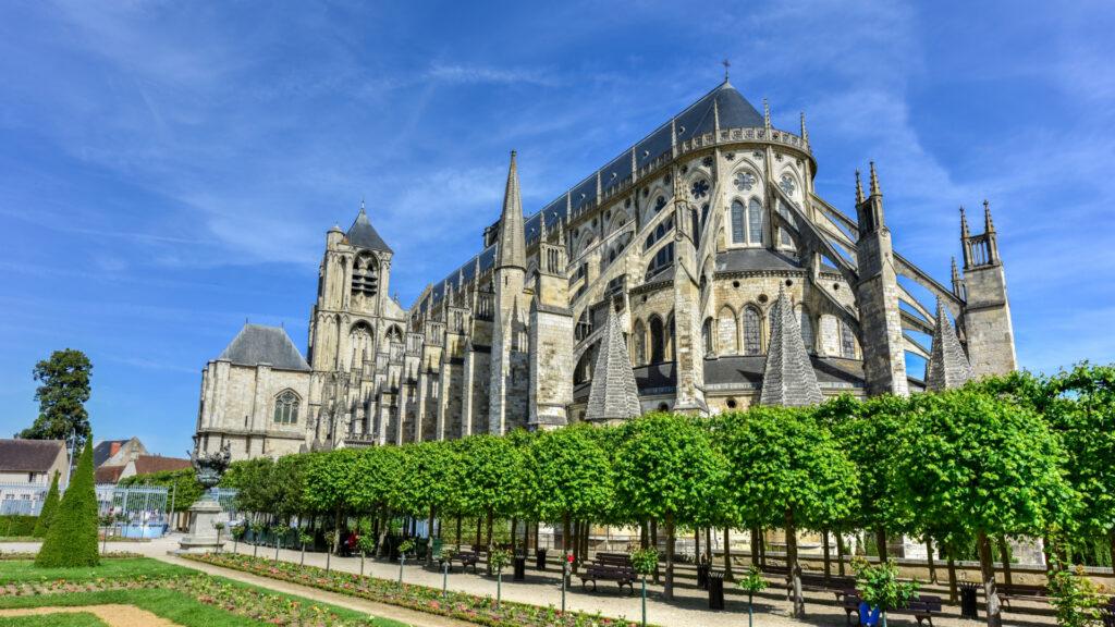 Cathédrale de Bourges vue de l'arrière
