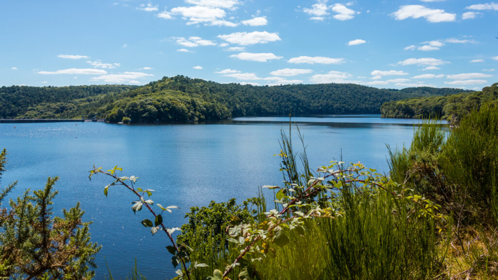 Lac de Guerlédan en Bretagne intérieure