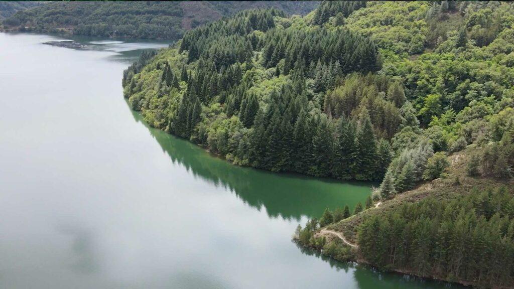 bordures du lac de Villefort