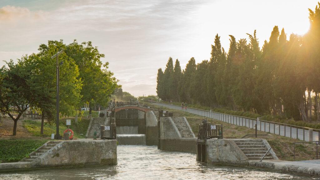 Fonseranes, joyau du Canal du Midi