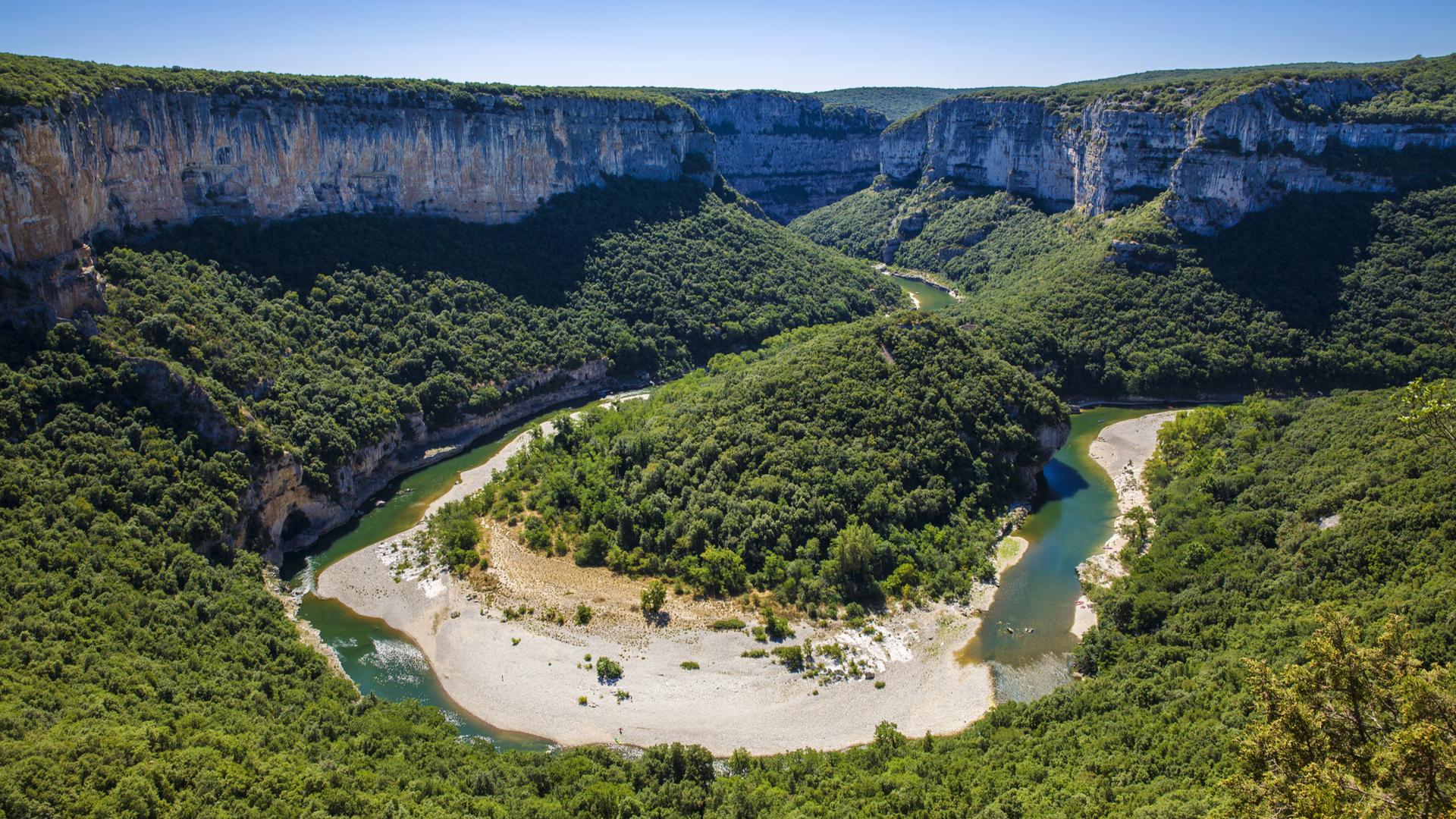 gorges de l'Ardèche en canoë