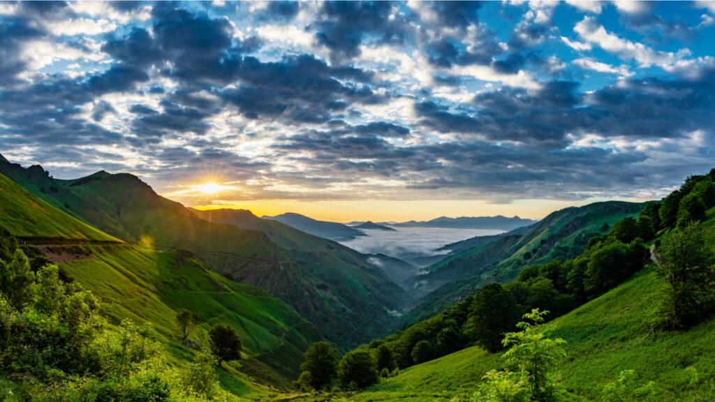 Pays Basque vu depuis le col de l'Espéguy