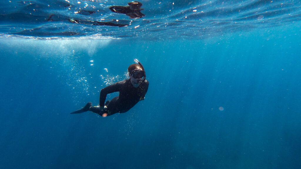 Plongée libre dans l'Hérault