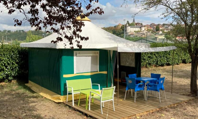 Un bungalow au camping de la moselle