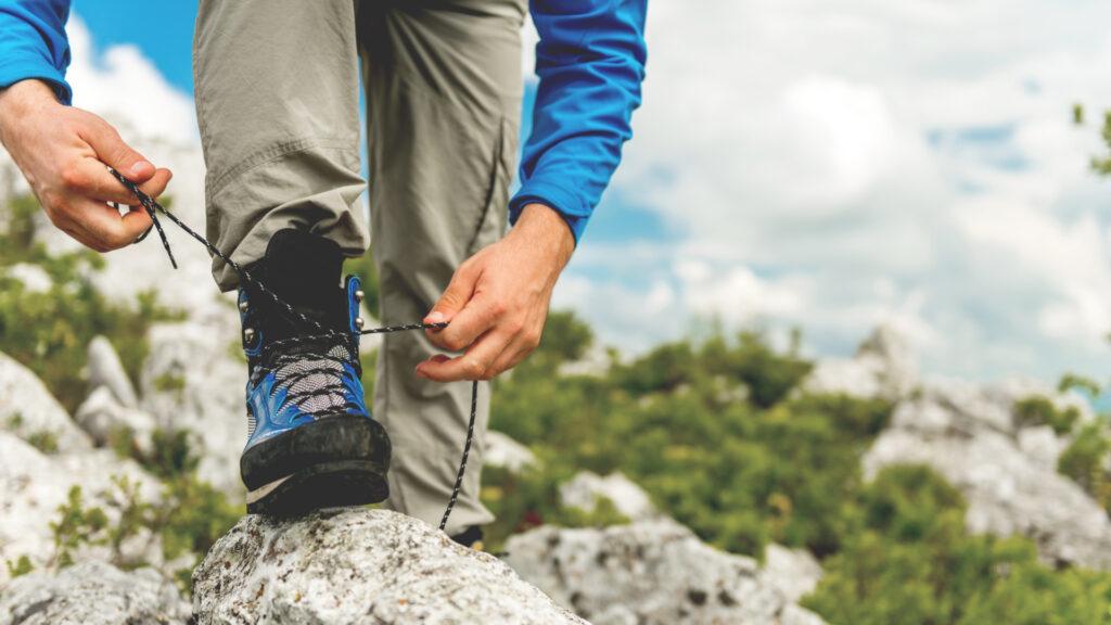 Chaussures de randonnée en montagne