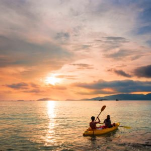kayak en amoureux