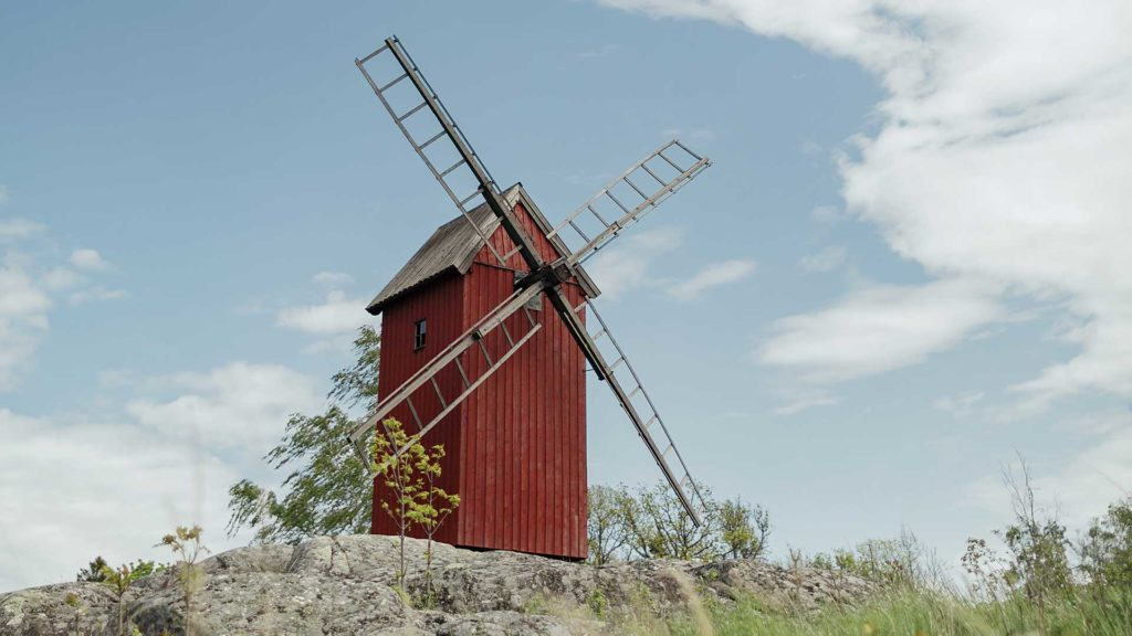 Moulin sur Zero Island en Suède