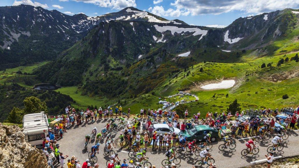Etape du Tour de France dans les Pyrénées