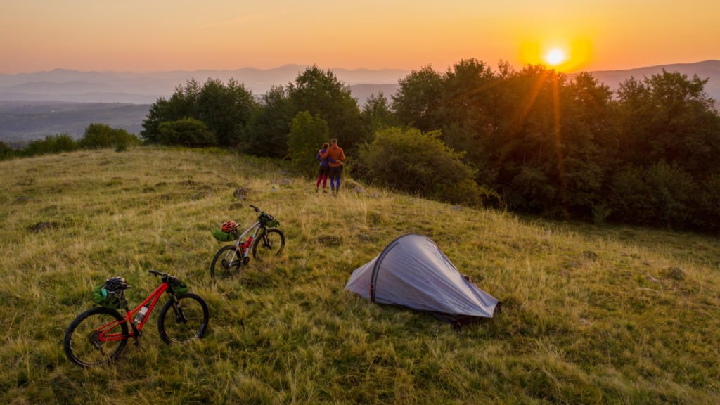 Cyclotourisme et camping
