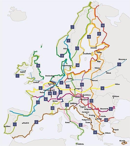 Les tracés de l'EuroVélo