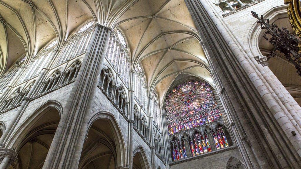 Croisées d'ogives à Notre-Dame d'Amiens