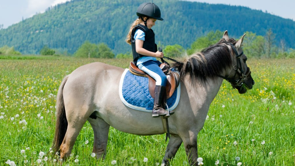 Fillette à cheval