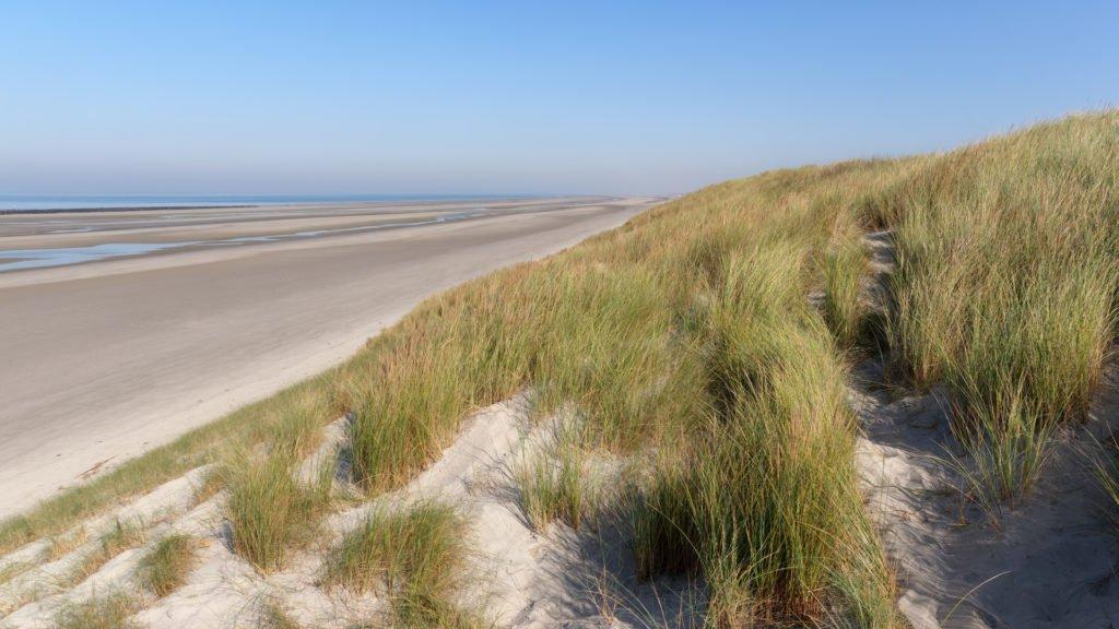Chemin côtier et dunes de sable dans la Baie de Somme