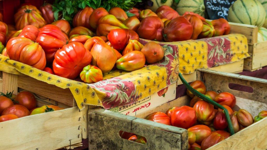 Tomates dans l'un des plus beaux villages du Vaucluse