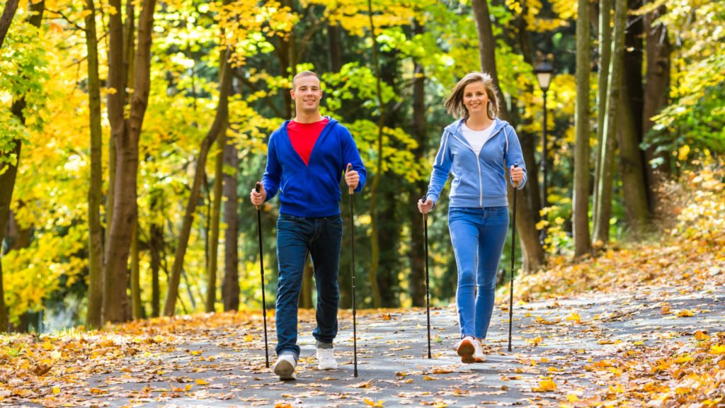 marche nordique en automne
