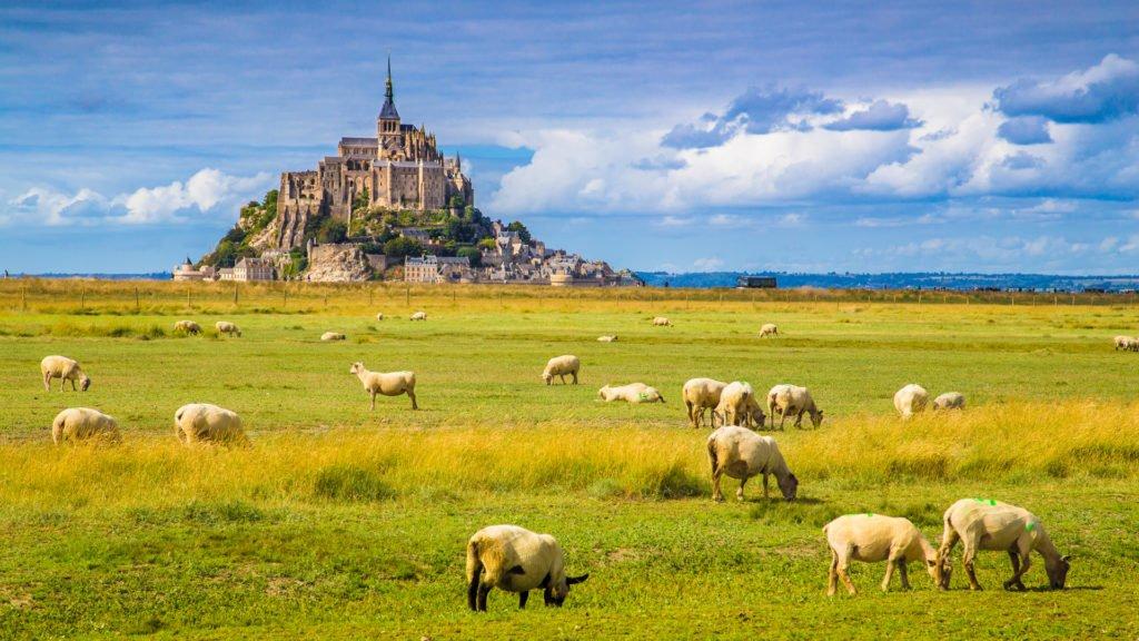 La baie du Mont Saint-Michel fait partie des sites naturels de Normandie