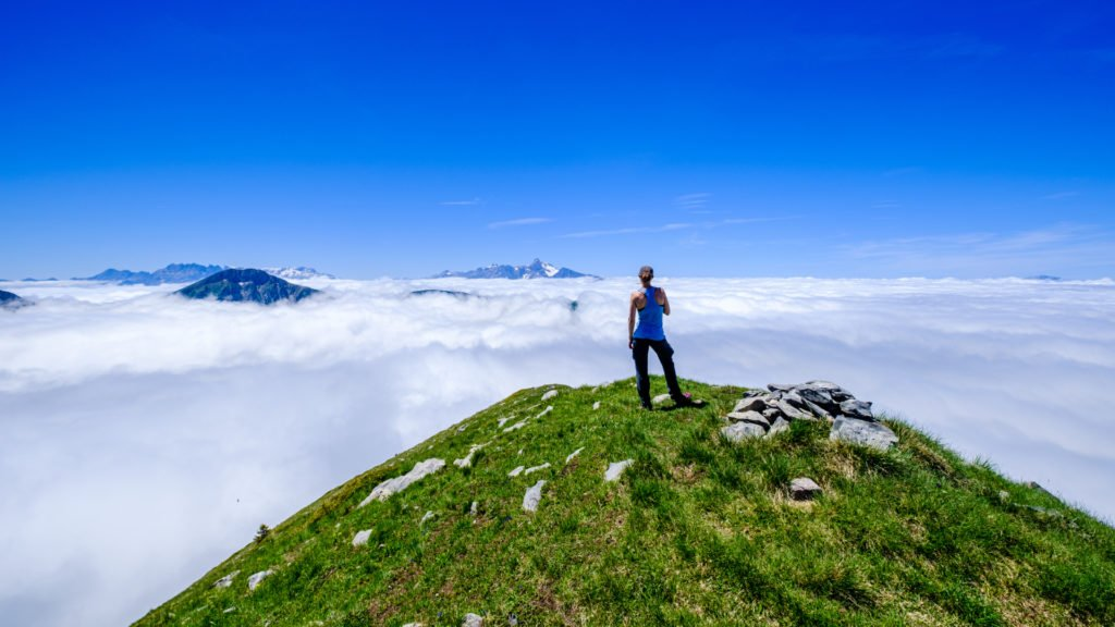 Randonnée dans les montagnes d'Oisans