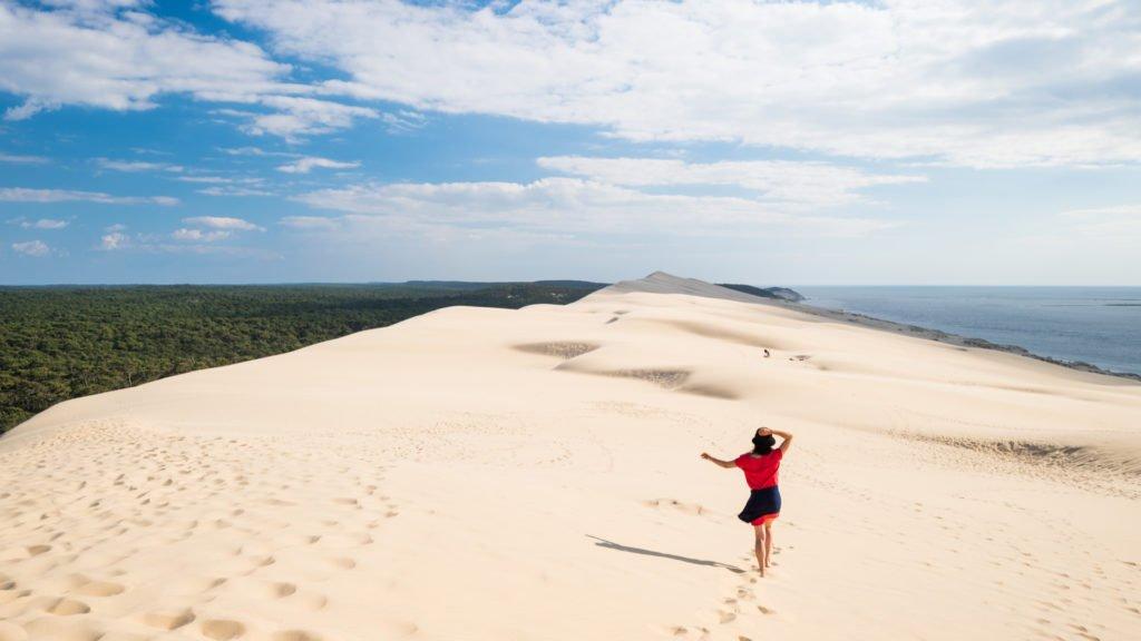 Somptueuse dune du Pilat accessible par la voie verte