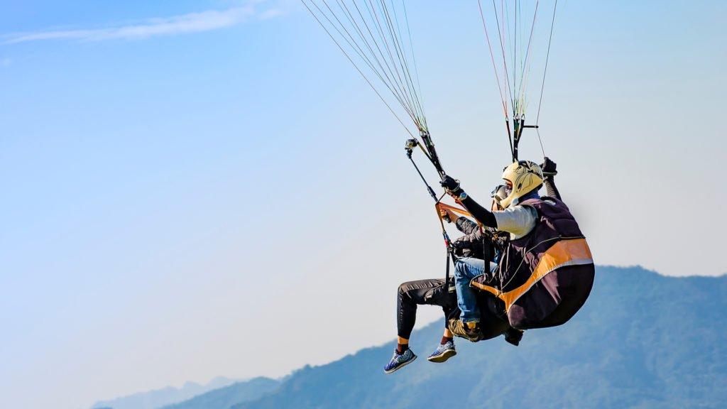 Vol en parapente au dessus du Pic Saint-Loup